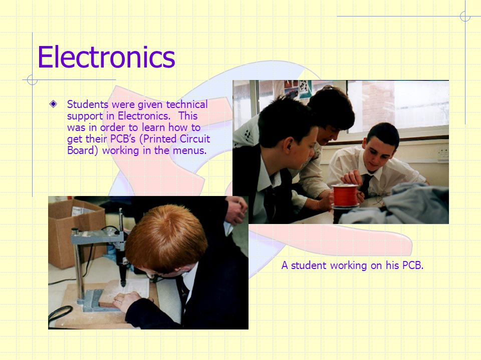 Electronics Students were given technical support in Electronics.