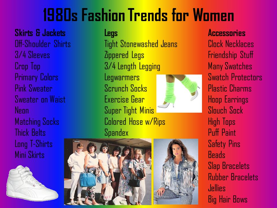 1980s Fashion Trends for Women Legs Tight Stonewashed Jeans Zippered Legs 3/4 Length Legging Legwarmers Scrunch Socks Exercise Gear Super Tight Minis