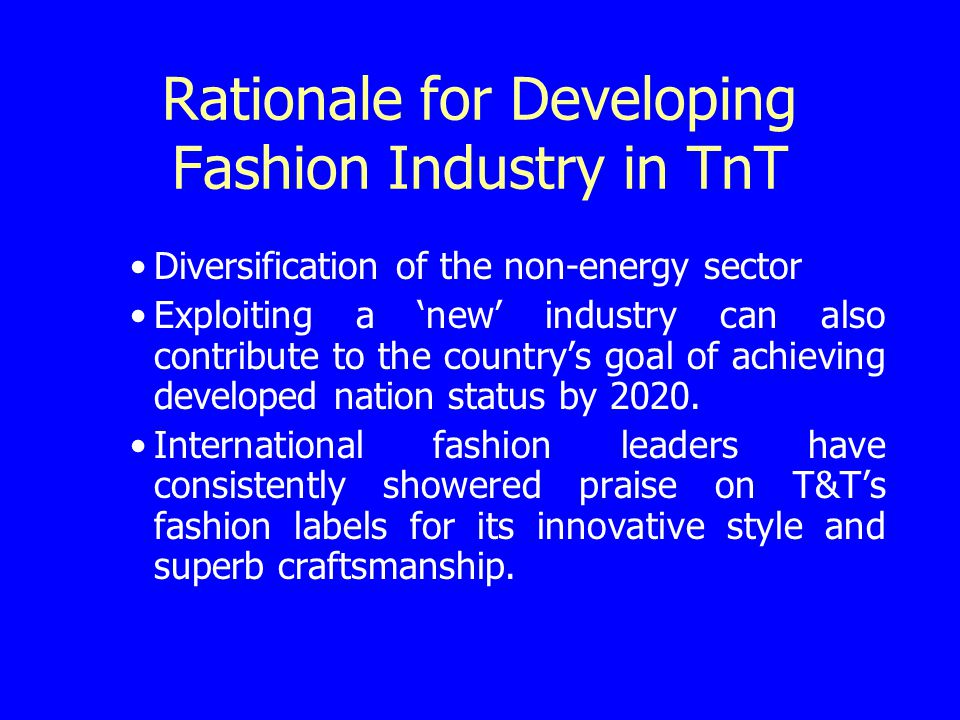 Diversification of TnTs Non-Energy Sector Yachting Fish and Fish Processing Merchant Marine Music and Entertainment Film Food and Beverage Printing and Packaging