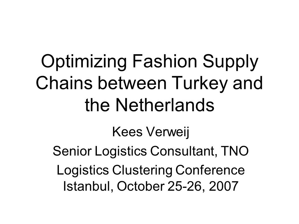 Logistics costs % in different European sectors (2003) Fashion retail supply chain is very cost sensitive Stock Administration