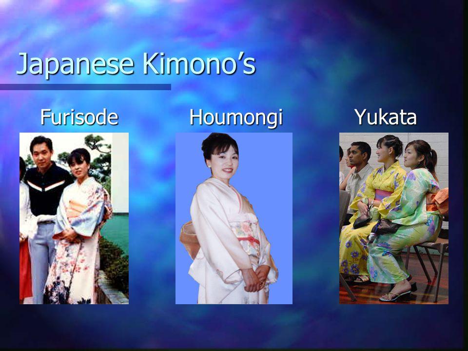 Japanese Kimonos Furisode Houmongi Yukata