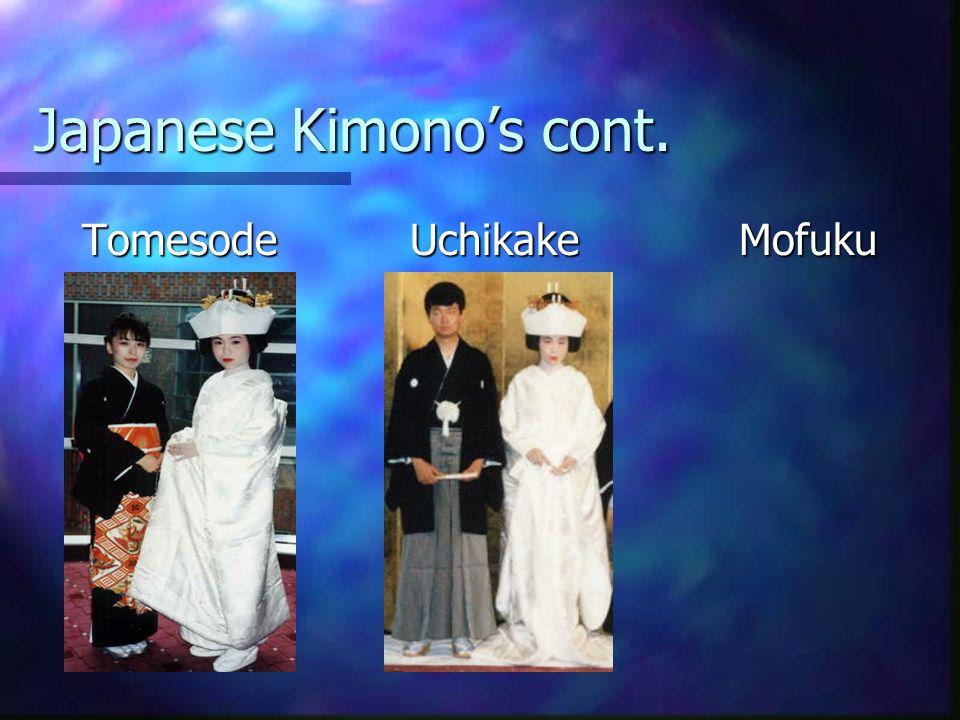 Japanese Kimonos cont. Tomesode Uchikake Mofuku