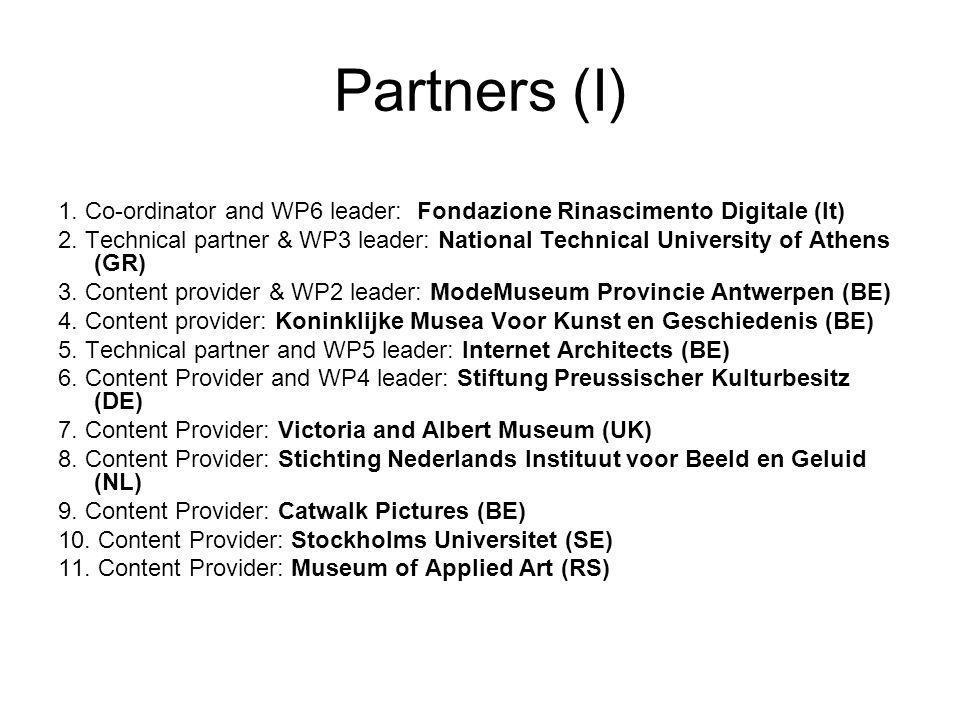 Partners (II) 12.Content Provider: Les Arts Décoratifs (FR) 13.