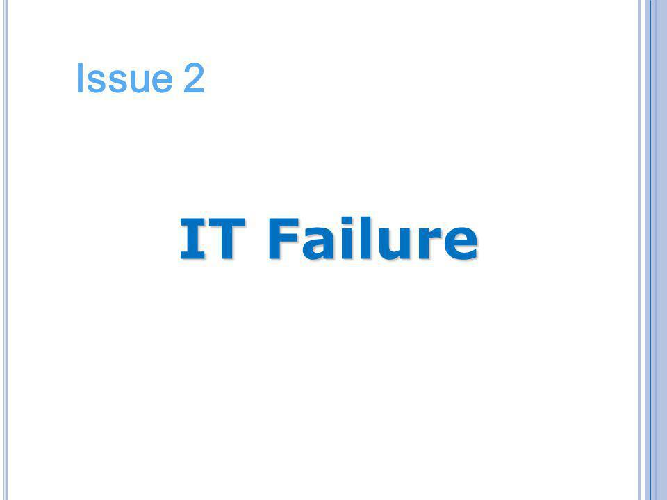 Issue 2 IT Failure