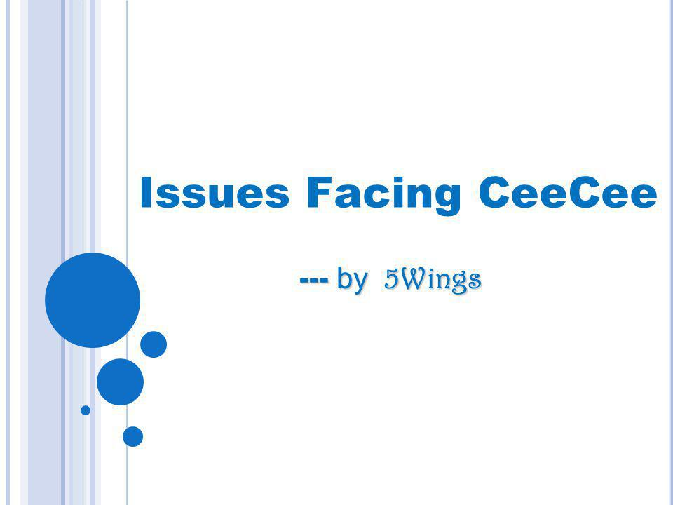 Issues Facing CeeCee --- by 5Wings