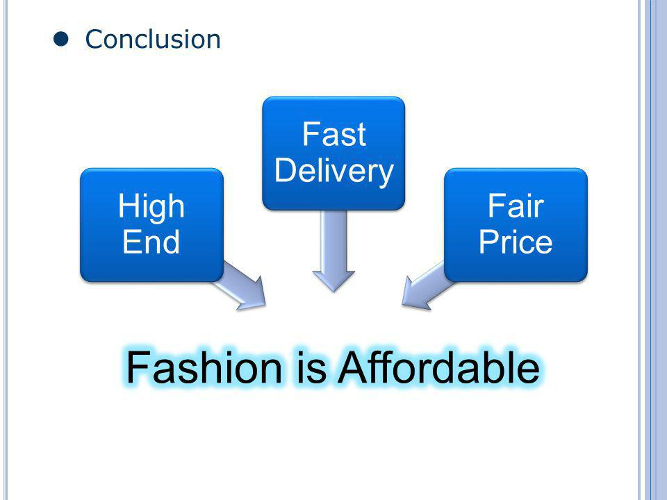 Conclusion High End Fast Delivery Fair Price