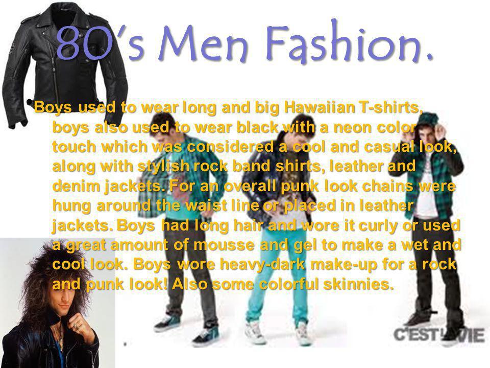 80s Men Fashion.