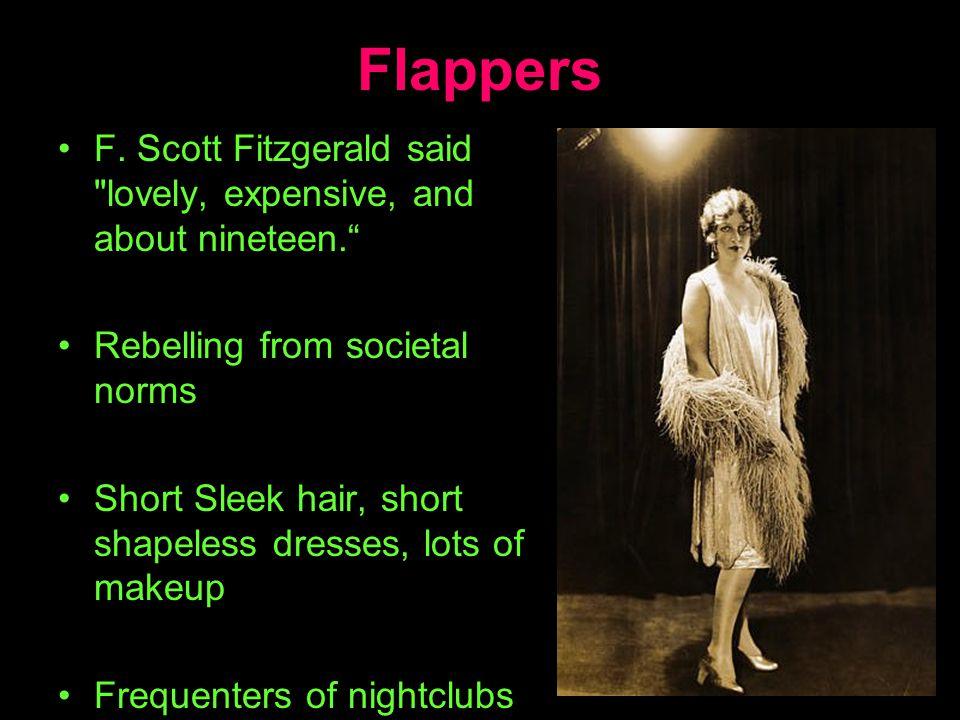 Flappers F. Scott Fitzgerald said
