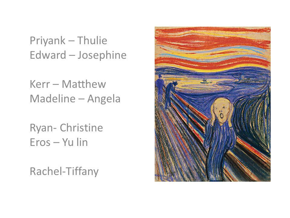 Priyank – Thulie Edward – Josephine Kerr – Matthew Madeline – Angela Ryan- Christine Eros – Yu lin Rachel-Tiffany