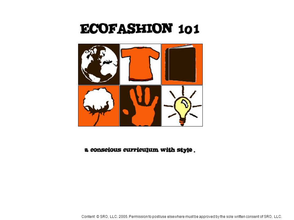 WHAT DOES ECO HAVE TO DO WITH FASHION? SRO, LLC. 2005