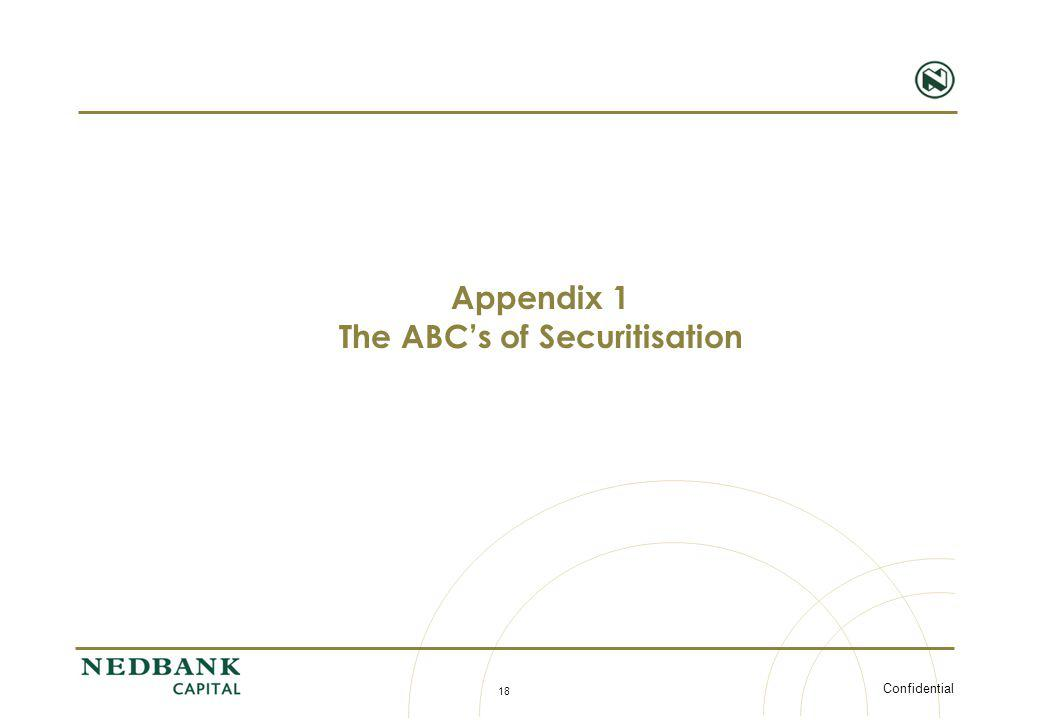 Confidential 18 Appendix 1 The ABCs of Securitisation