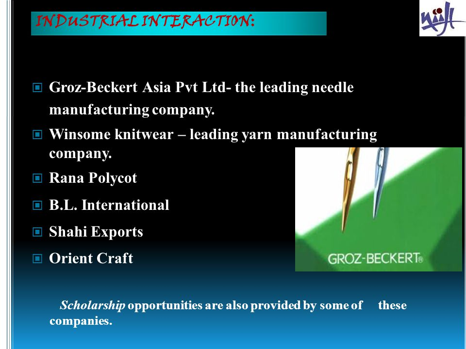 Groz-Beckert Asia Pvt Ltd- the leading needle manufacturing company.