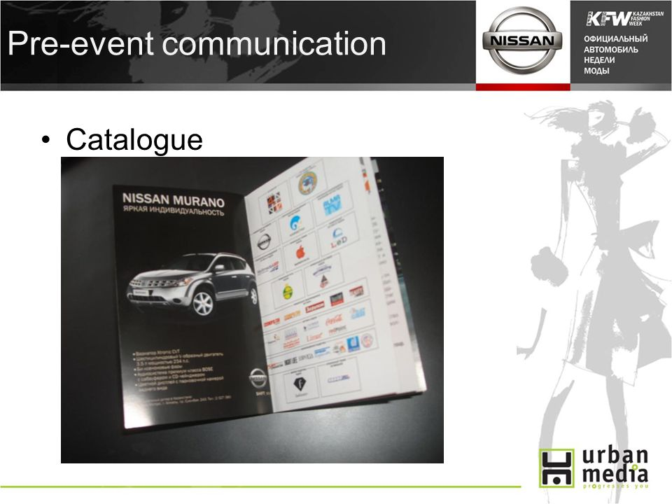 Pre-event communication Catalogue