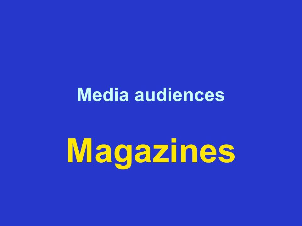 Media audiences Magazines
