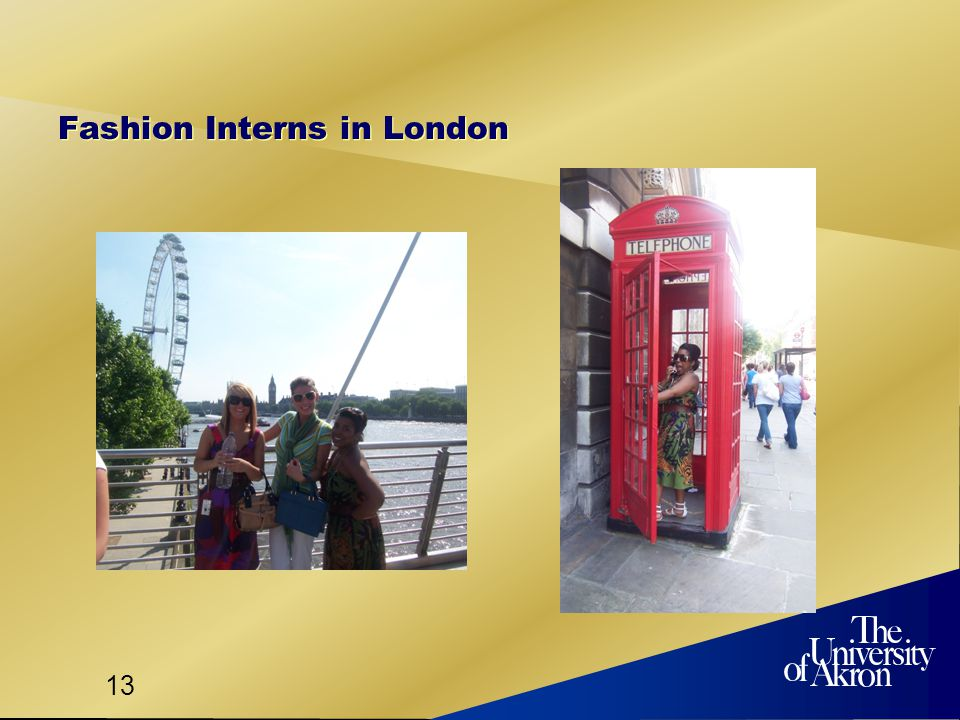 13 Fashion Interns in London