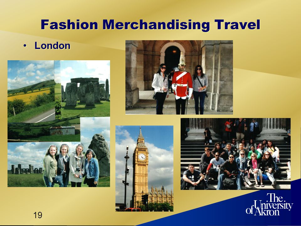 19 Fashion Merchandising Travel London