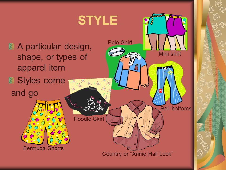 FASHION The display of currently popular style of clothing Most accepted and up-to-date Continual process of change