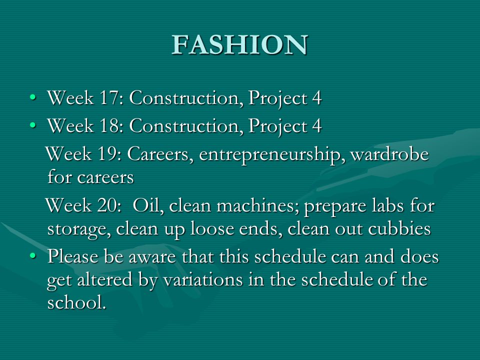 FASHION FCCLA: Family, Career and Consumer Leaders of America is an important part of the FCS program.