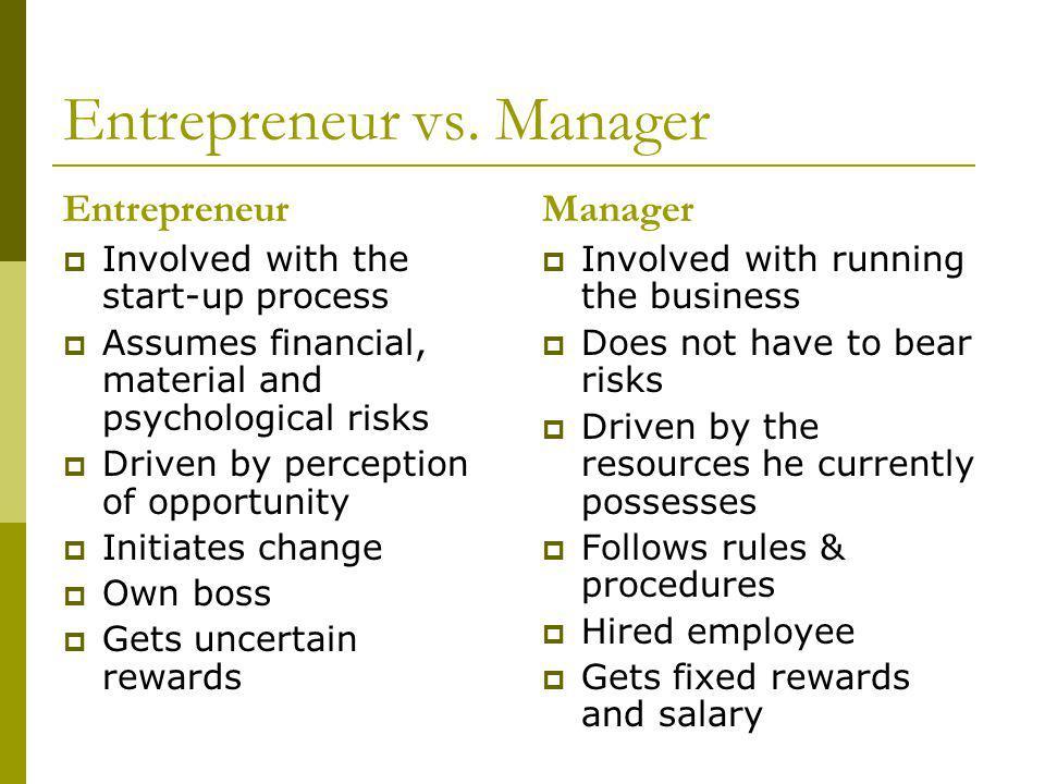 Entrepreneur vs.