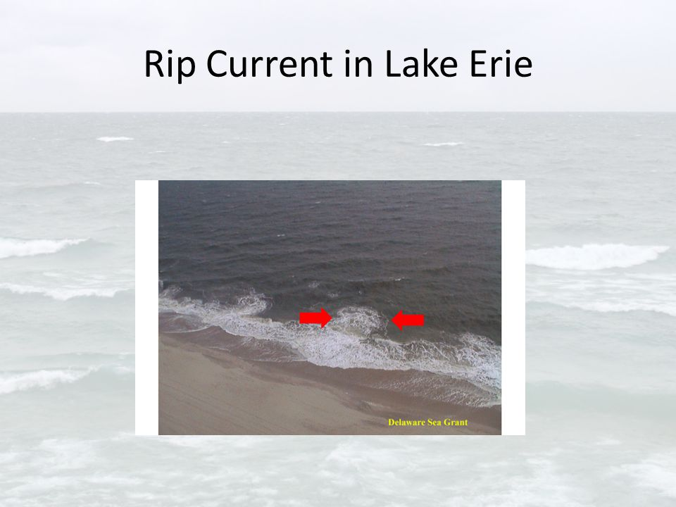 Rip Current in Lake Erie