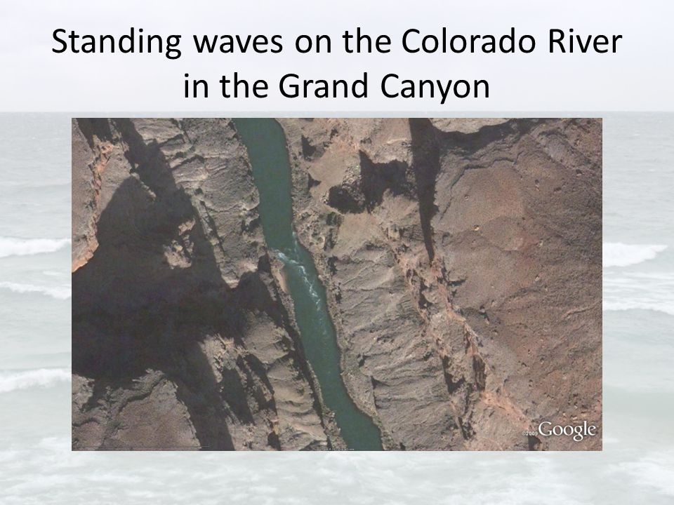Standing waves on the Colorado River in the Grand Canyon