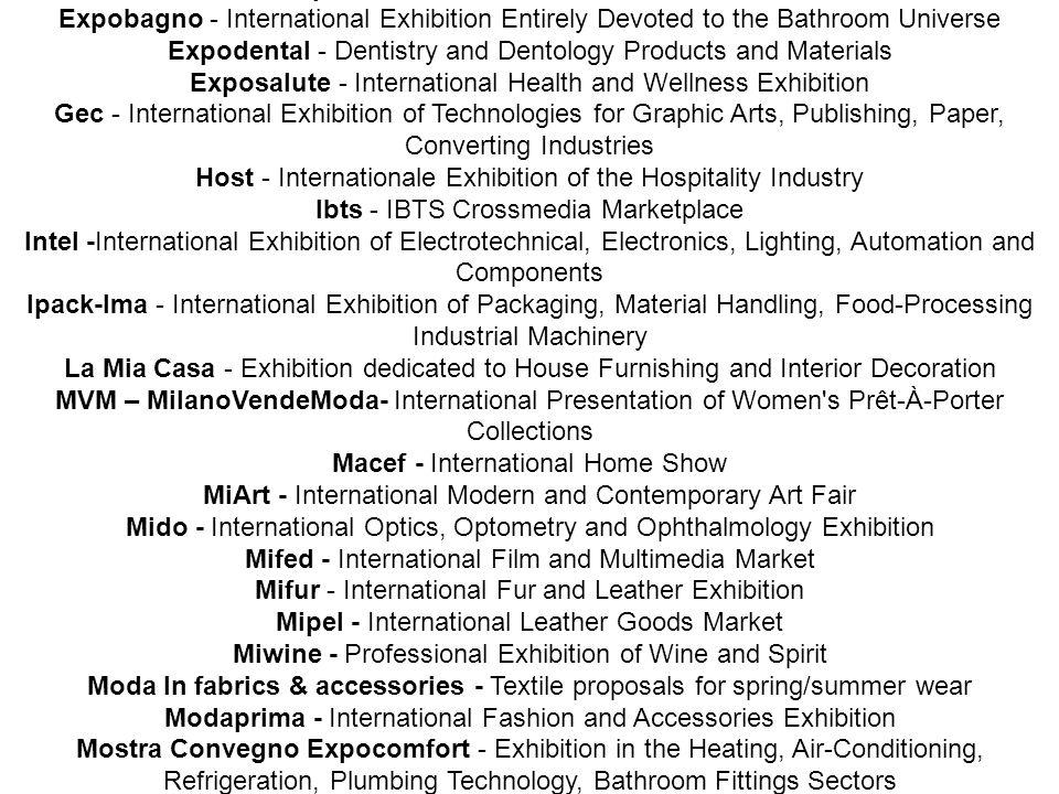 The reasons for choosing Milan: Pre/Post WCC 2008 - Extension venues Sardinia (7 days)Sardinia (7 days)