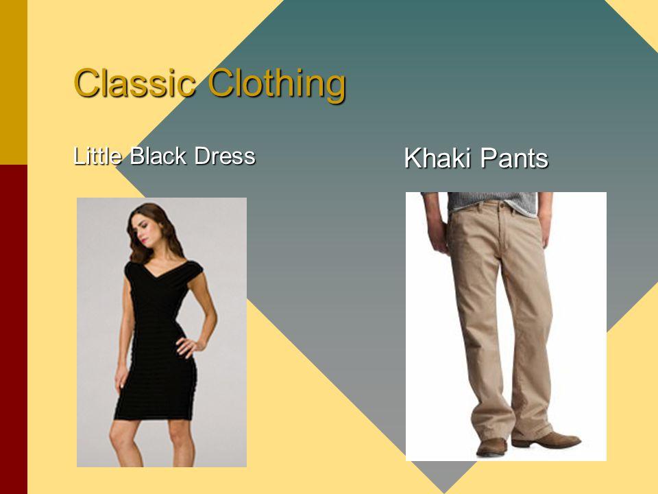 Classic Clothing Little Black Dress Khaki Pants Khaki Pants