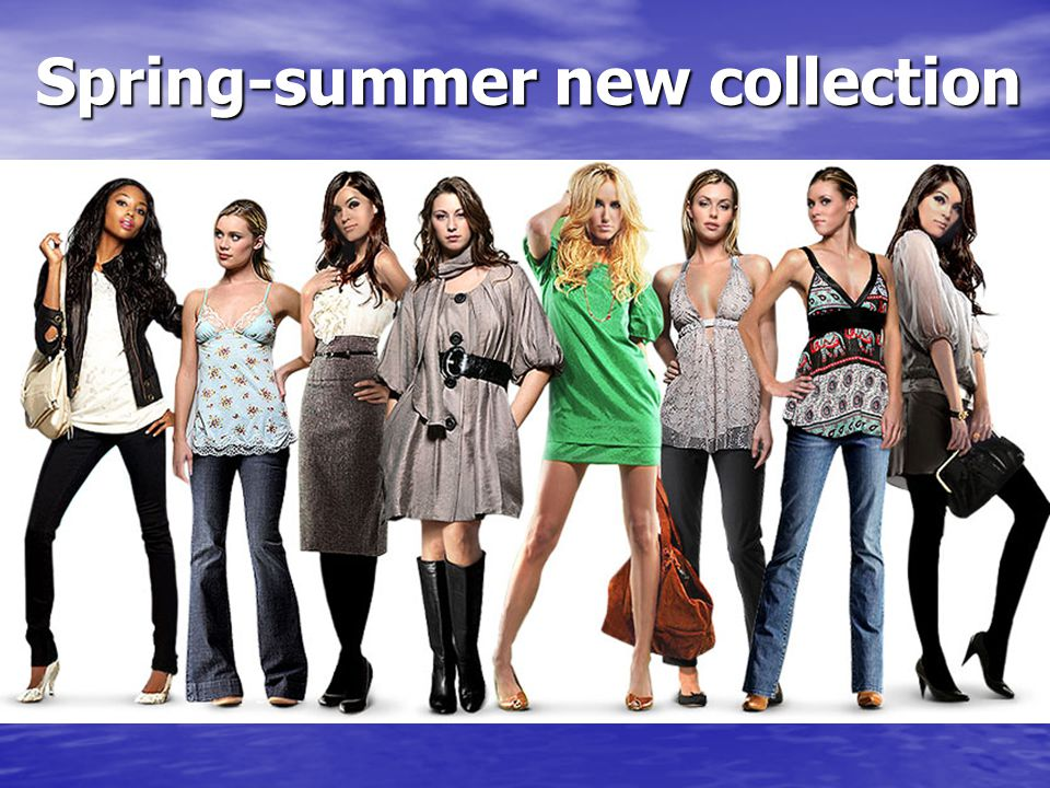 Spring-summer new collection