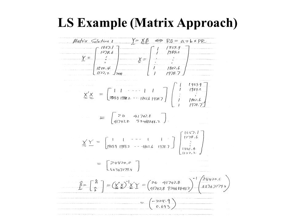 LS Example (Matrix Approach)