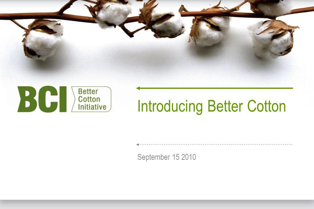 Texworld, Paris - www.sustainableorganicfarmsystems.co.uk - 15-09-2010 Introducing Better Cotton September 15 2010