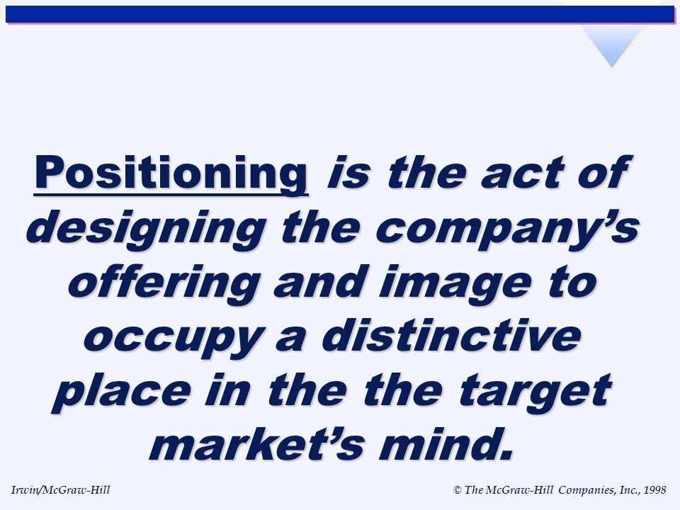 Irwin/McGraw-Hill © The McGraw-Hill Companies, Inc., 1998