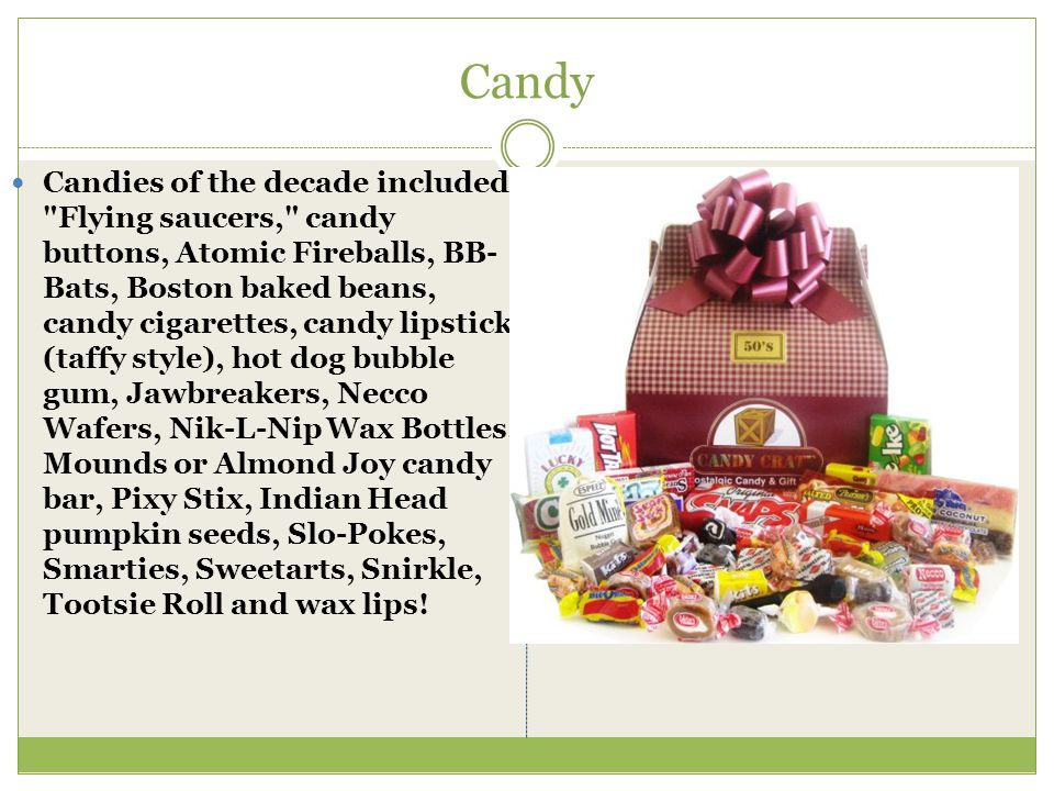 Candy Candies of the decade included: