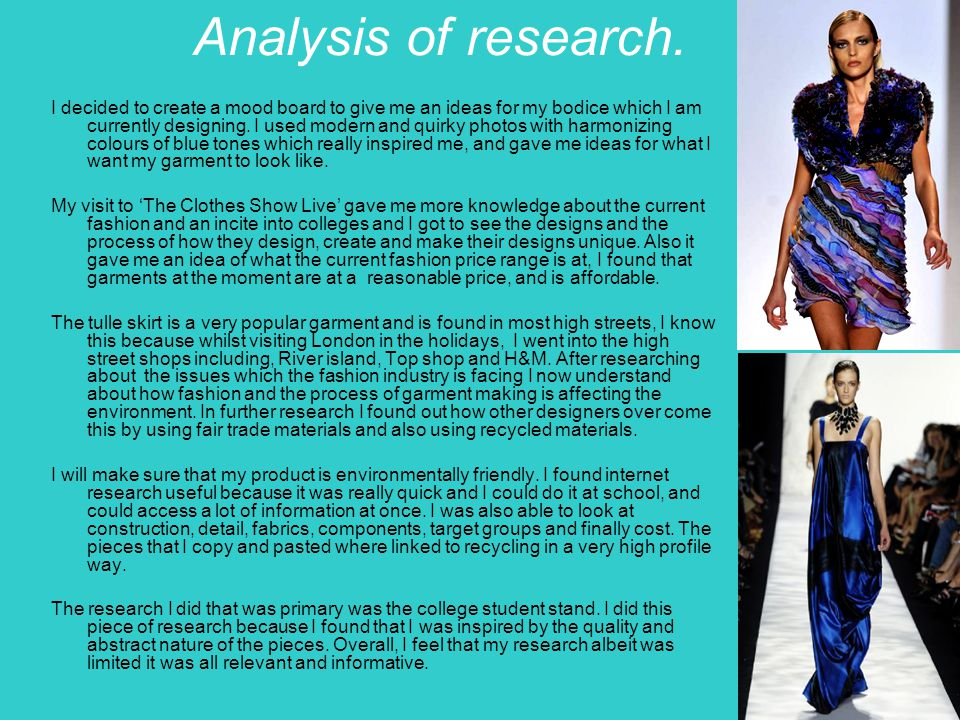 Analysis of research.