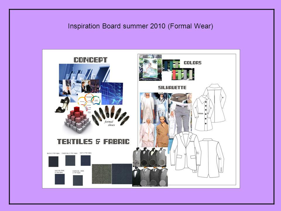Inspiration Board summer 2010 (Formal Wear)