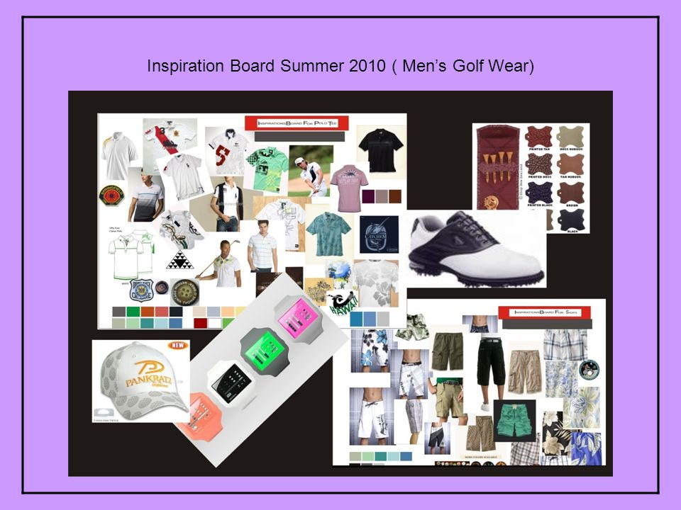 Inspiration Board Summer 2010 ( Mens Golf Wear)