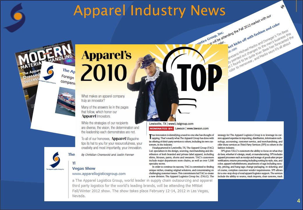 4 Apparel Industry News