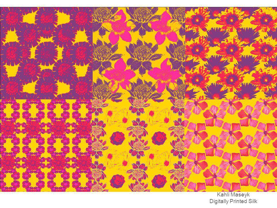 Kahli Maseyk Digitally Printed Silk