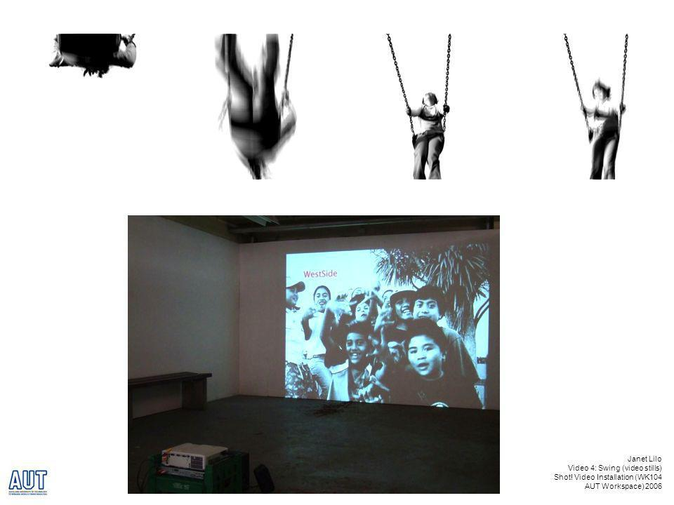 Janet Lilo Video 4: Swing (video stills) Shot! Video Installation (WK104 AUT Workspace) 2006
