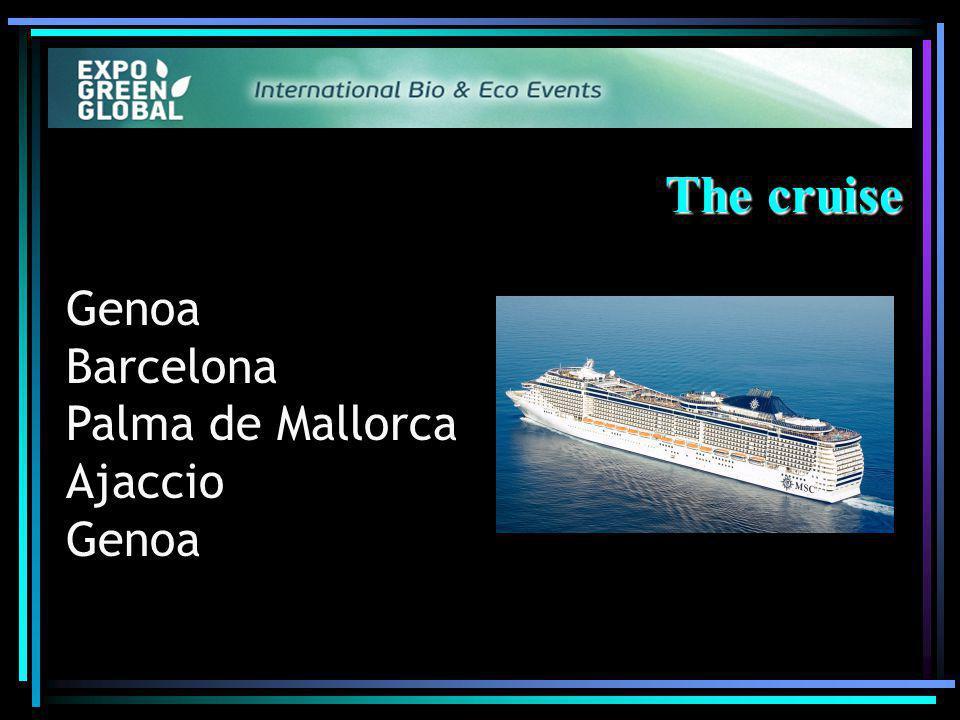 The cruise Genoa Barcelona Palma de Mallorca Ajaccio Genoa