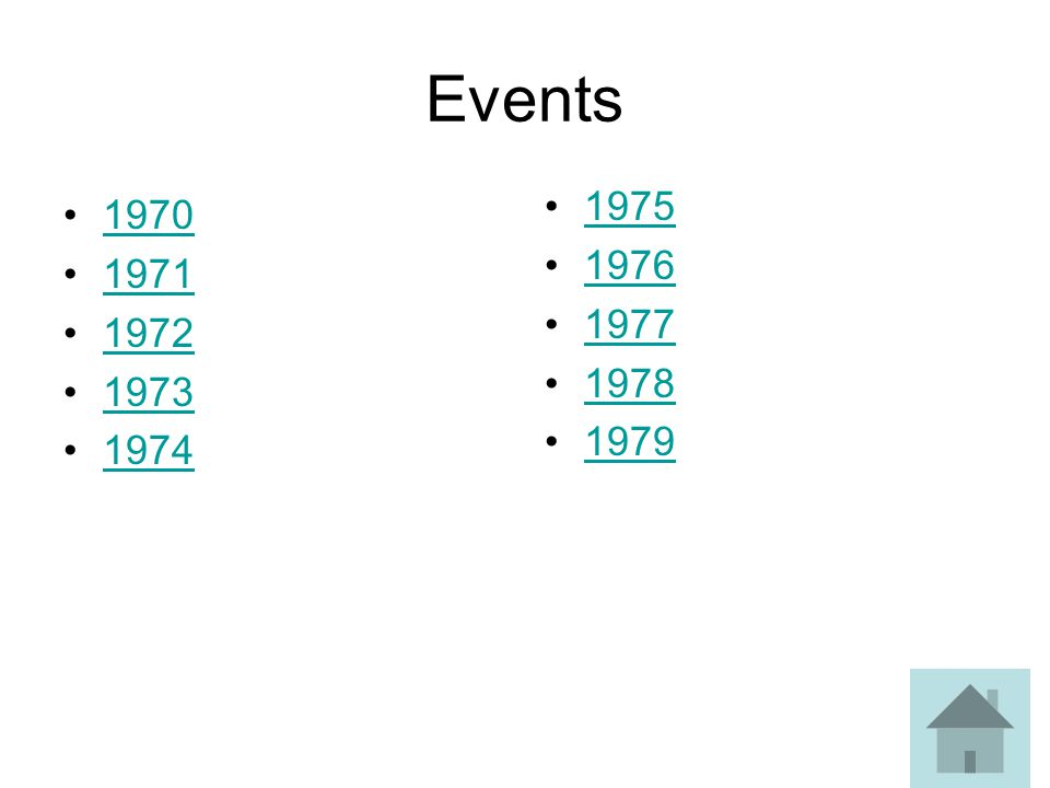 Events 1970 1971 1972 1973 1974 1975 1976 1977 1978 1979