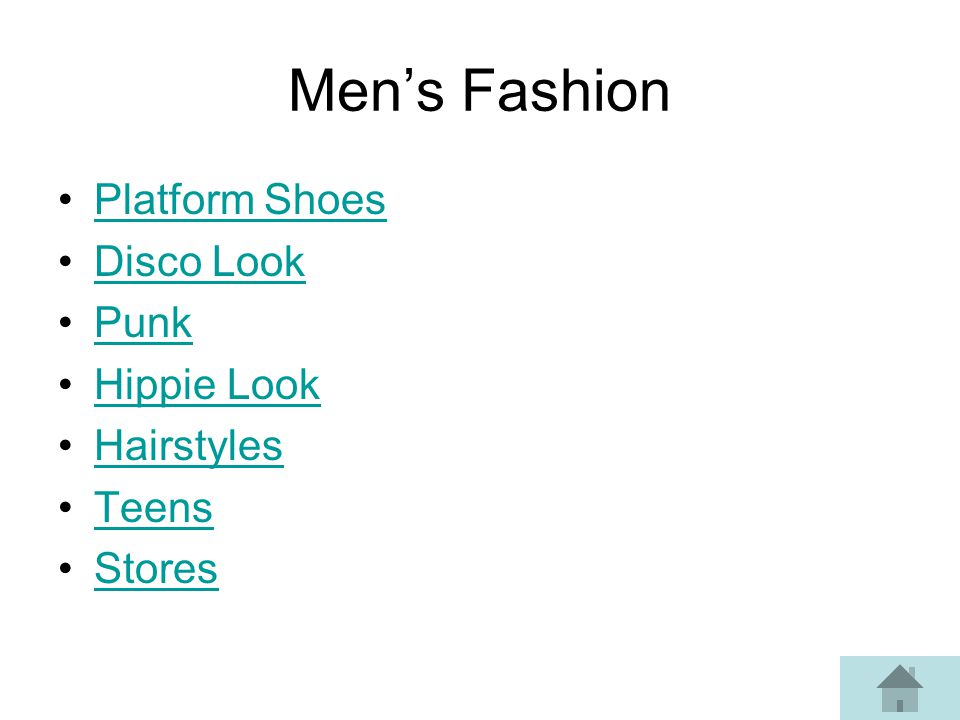 Mens Fashion Platform Shoes Disco Look Punk Hippie Look Hairstyles Teens Stores