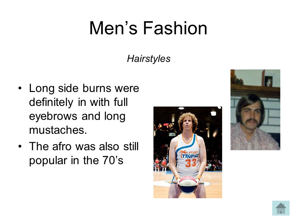 Mens Fashion Long side burns were definitely in with full eyebrows and long mustaches.