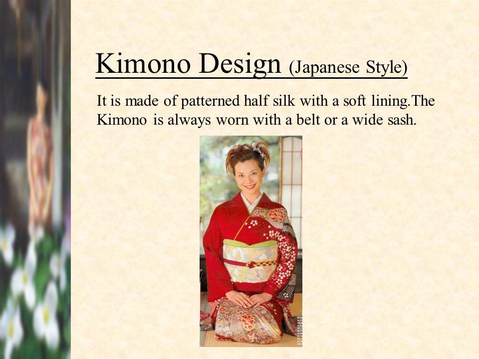 Kimono Sleeve Belt or Wide Sash V-Shaped neckline