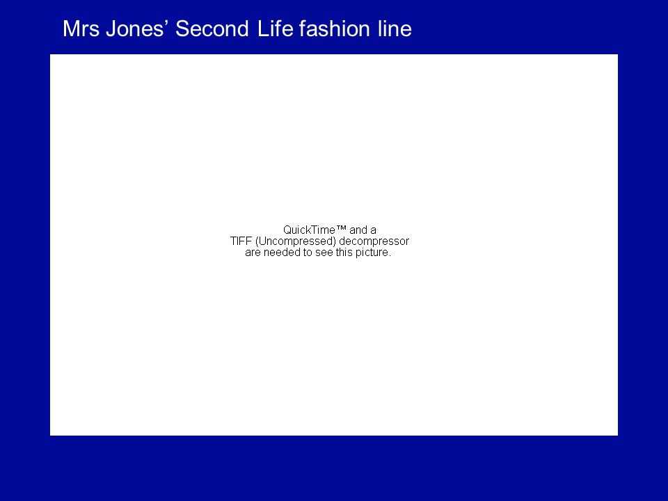 Mrs Jones Second Life fashion line