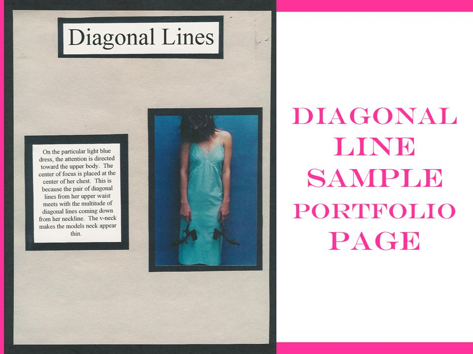 Diagonal Line sample portfolio page