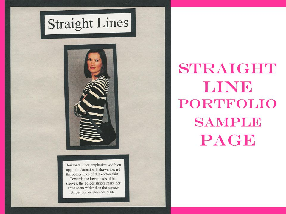 Straight line portfolio sample page