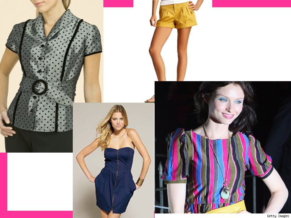 Horizontal Message –relaxed, casual, Illusion –Increases, emphasizes, reinforces width, bulk, shortness, counters vertical lines, when placed high appears taller, when placed low appears shorter Placement –Necklines, bow ties, horizontal stripes, belts, cuffs, waistline, platform shoes, wide-brimmed hat