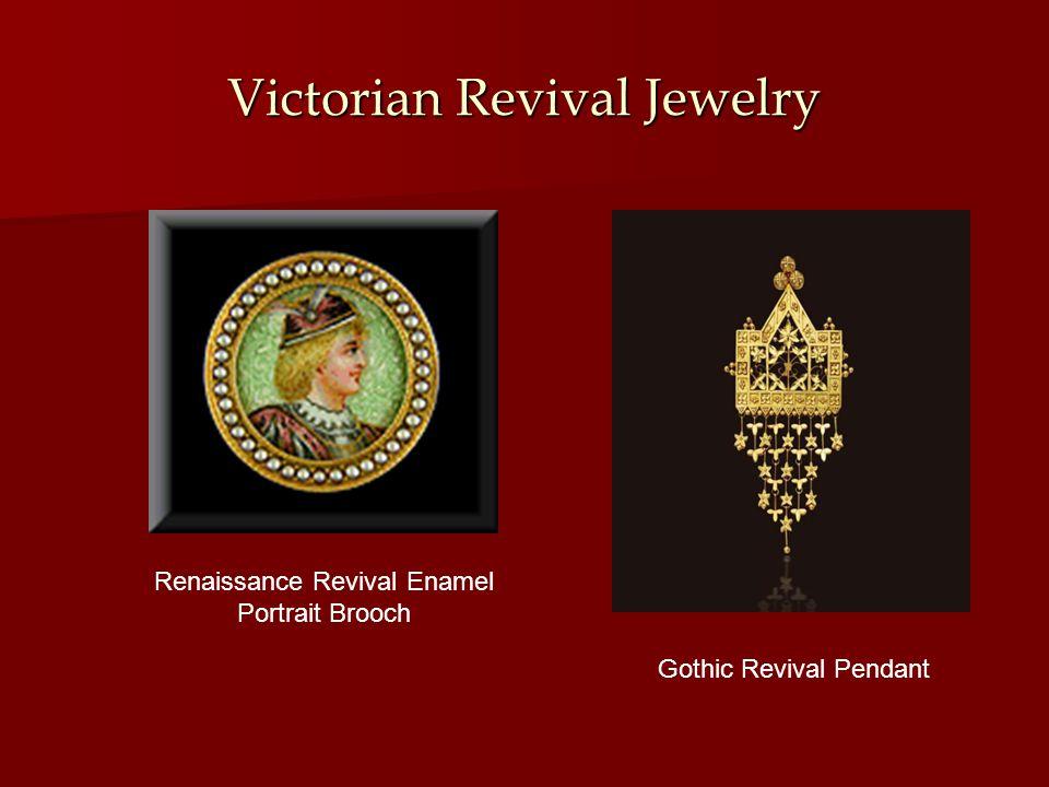 Victorian Revival Jewelry Renaissance Revival Enamel Portrait Brooch Gothic Revival Pendant