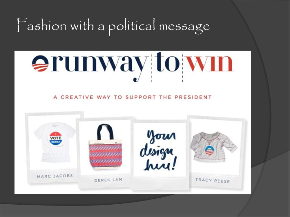 Fashion with a political message