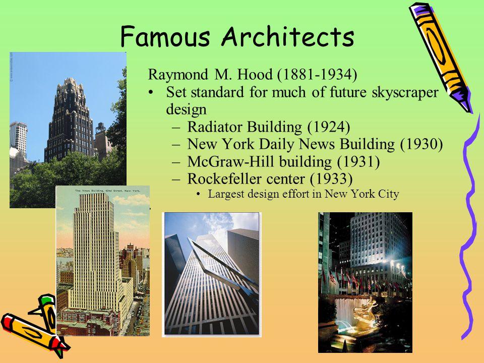 Famous Architects Raymond M.